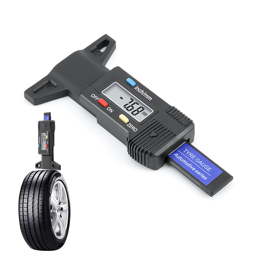 1 Piece Tire Tool Auto Repair Tool Car Tire Tread Depth Gauge Tester Brake Shoe Pad Car Tire Measurer Digital Tester Tool