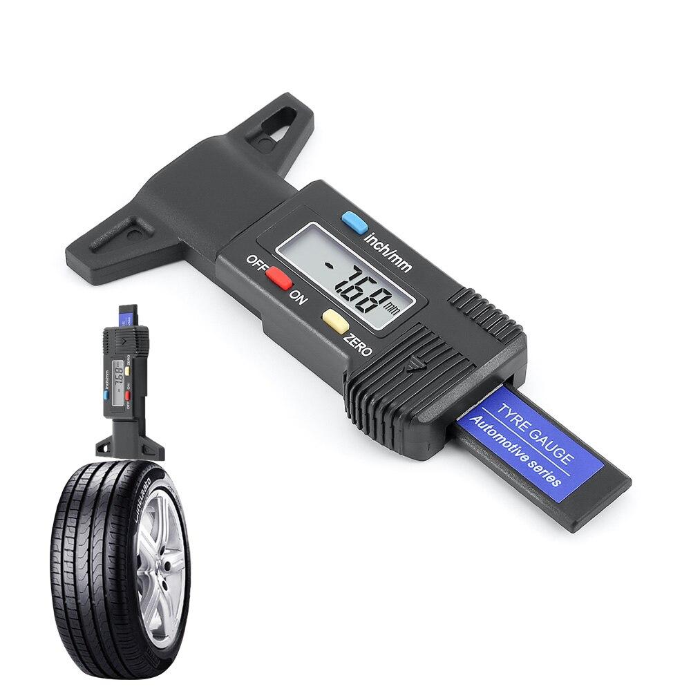 1 pièce outil de réparation de pneu voiture testeur frein chaussure Pad voiture pneu testeur numérique jauge de profondeur de pneu bande de roulement mesure de la pression des pneus