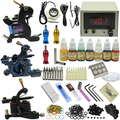 2015 Three Tattoo motor guns tattoo kit with tattoo power needles set ink supply MC-KIT-A3003 10-0069