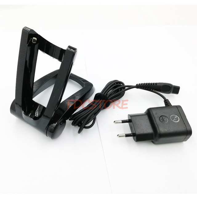 For Philips Norelco Shaver FOLDABLE STAND charger RQ1290 RQ1295 RQ1296 RQ1250 RQ1251 RQ1252 RQ1255 RQ1260+HQ8505 Charger EU Plug