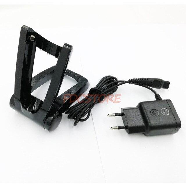 למכונת גילוח פיליפס Norelco מעמד מתקפל מטען RQ1290 RQ1295 RQ1296 RQ1251 RQ1252 RQ1255 RQ1250 RQ1260 + HQ8505 מטען האיחוד האירופי Plug