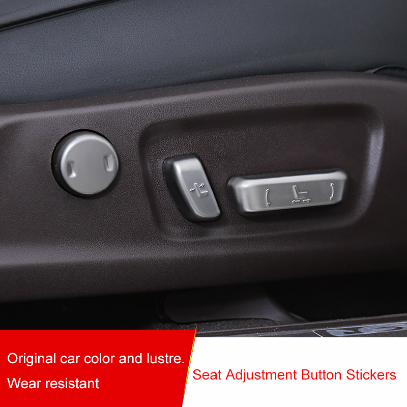 QHCP Seat Adjustment Button Switch Cover Sticker Trims 6Pcs/Set ABS Electroplating Fit For Lexus RX300 200T 450H Car Accessories
