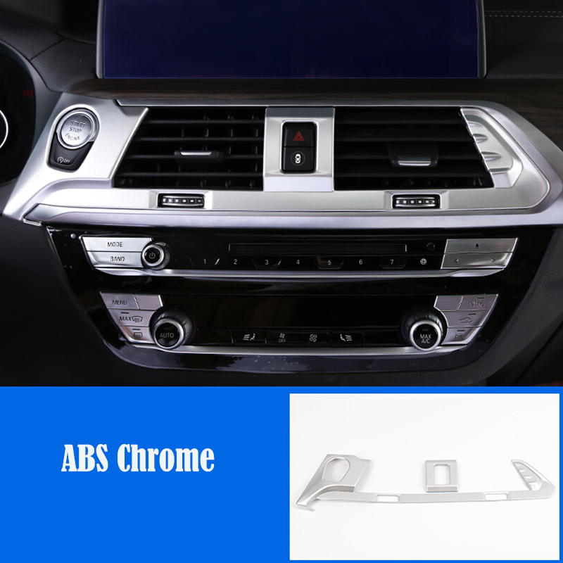 For BMW X3 G01 X4 G02 2018 2019 ABS Matte Car middle air outlet Decoration Cover Trim car styling accessories 1pcs