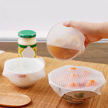 3/1Pcs Transparent Silicone Cling Film Food Fresh Keeping Wrap Food Wraps Seal Vacuum Cover Lid Stretch(China)