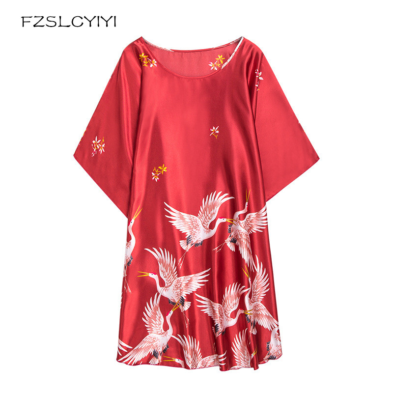 FZSLCYIYI European Fashion Women Baroque Style Nightdress Batwing Sleeve Luxury Retro Vintage   Nightgown     Sleepshirt   Large Size
