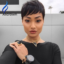 Short Bob Wigs For Black Women Glueless Full Lace Wig Baby Hair None Lace Short Wigs Virgin Full Lace Human Hair Wigs With Bangs