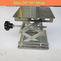 Stainless steel Small lifting platform Manual lift Tables 30x30x38cm