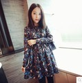 Maternity dress 2016 spring and autumn new fashion stamp long sleeve dress casual dress for pregnant women