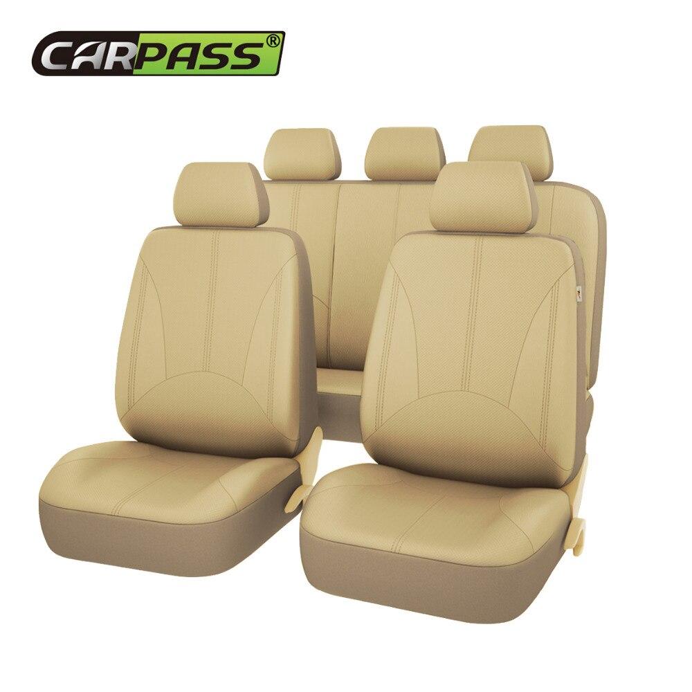Автомобиль-Пасс 3 цвета Новая Роскошная искусственная кожа Авто универсальные автомобильные чехлы для сидений Автомобильные чехлы для сид...