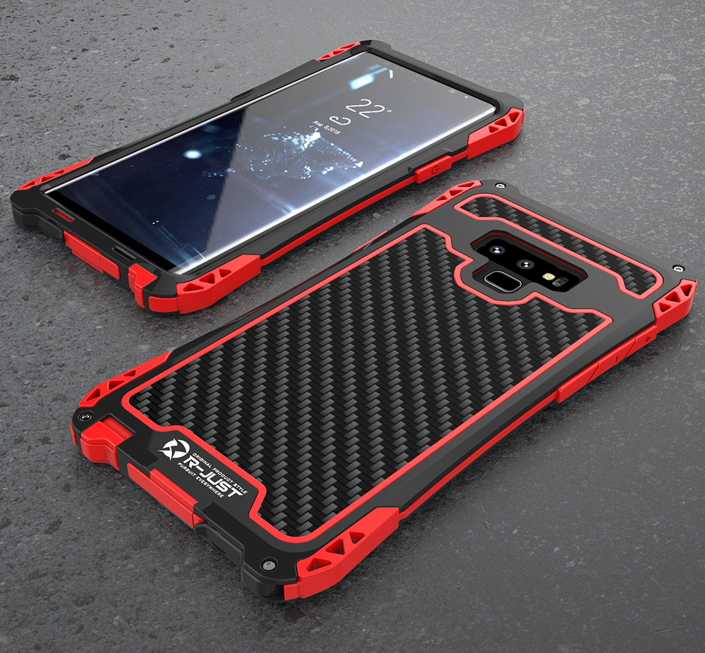 hot sales cd50b 16ff1 US $18.98 25% OFF|For Samsung Galaxy Note 9 Case Note9 S9 S10 Plus  Shockproof Carbon Fiber Metal Phone Cover sFor Samsung Note 9 Case Armor  S9Plus-in ...