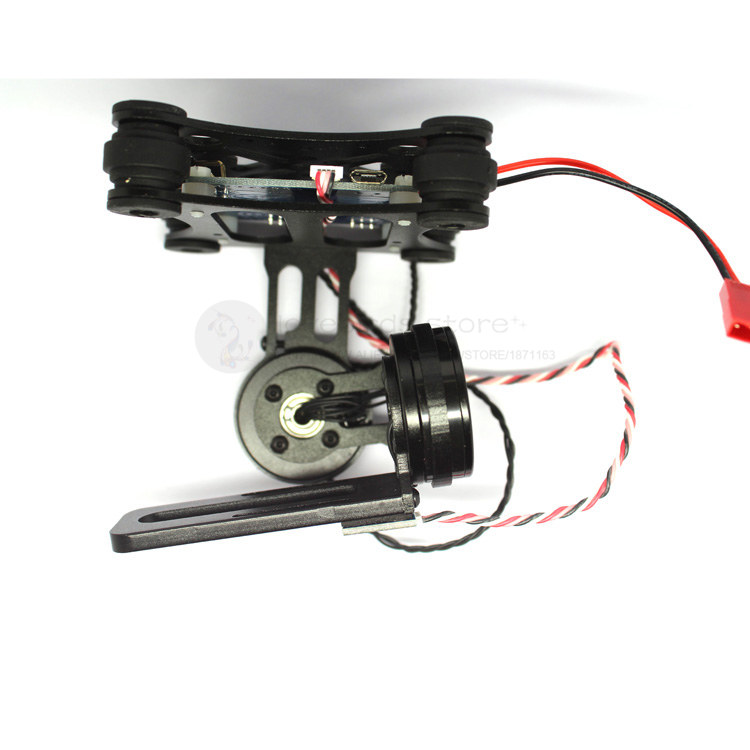 The new 2 axies lightweight 2D brushless gimbal ready to use for Gopro 3 / 4 , xiaoyi , SJ , hawkeye FPV camera walkera g 2d camera gimbal for ilook ilook gopro 3 plastic version