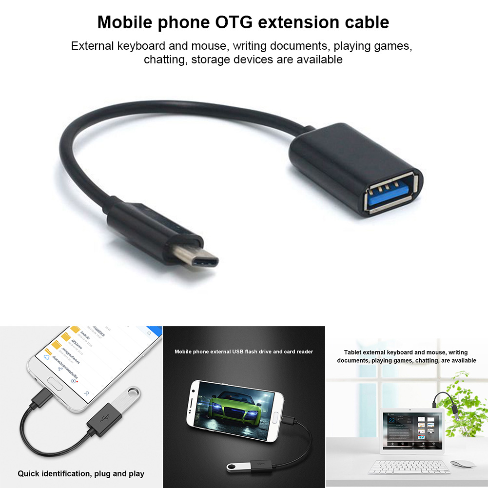 Type-C OTG Adapter Cable USB 3.1 Type C Male To USB 3.0 A Female OTG Data Cord Adapter 16CM HJ55