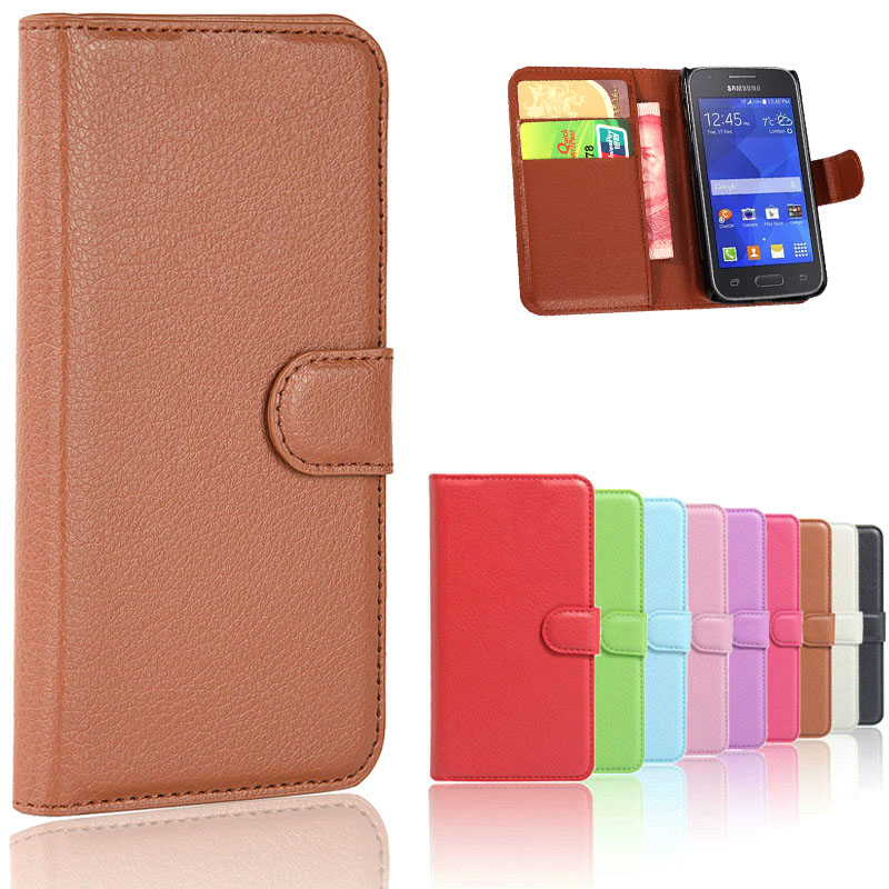 Luxury Leather Flip Case For <font><b>Samsung</b></font> <font><b>Galaxy</b></font> <font><b>Ace</b></font> <font><b>4</b></font> Ace4 NXT G313 G313H <font><b>SM</b></font>-G313H trend 2 lite <font><b>Ace</b></font> <font><b>4</b></font> <font><b>Neo</b></font> <font><b>G318H</b></font> <font><b>SM</b></font>-<font><b>G318H</b></font> Phone Cases image