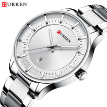 CURREN 2019 Relogio Masculino Watches Men Fashion Silver Date Sports Stainless Steel Case Band Quartz Business Wristwatch Hombre jargar jag6055m4s2 new men automatic fashion dress wristwatch silver color stainless steel band free shipping