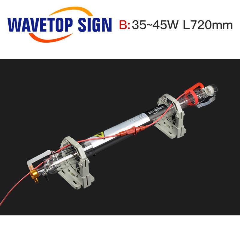 Wavetopsign 40 w tubo do laser co2 atualizado comprimento da cabeça de metal 720mm dia50mm para co2 gravação a laser máquina de corte