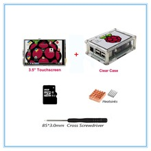 Raspberry Pi 3 / 3.5 Inch TFT LCD USB Touch Screen 320×480 LCD Display with Case+3 Heat Sinks+Touch Pen for Raspberry Pi 3