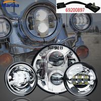 7 Inch Harley LED Headlight 80W + Mounting Bracket For Harley Davidson Motorcycle Dyna Switchback Electra Glide Softail Heritage