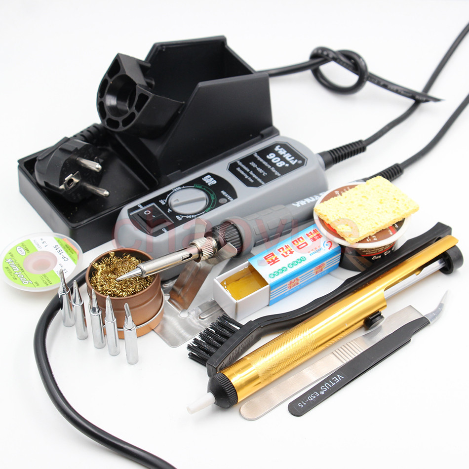 ФОТО 60W mini electric iron soldering station + solder