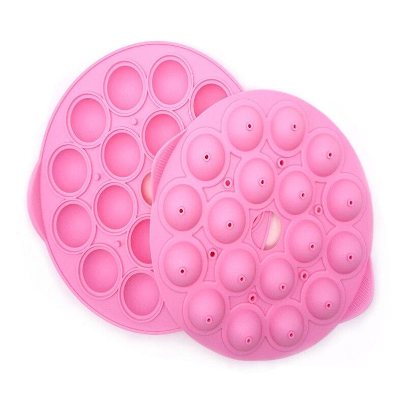 6 pcs/set / 18 Silicone en forme de boule Pop Cupcake mold, Lollypop Sticks plaque de four pour la cuisson dur bonbons chocolat avec Silicone
