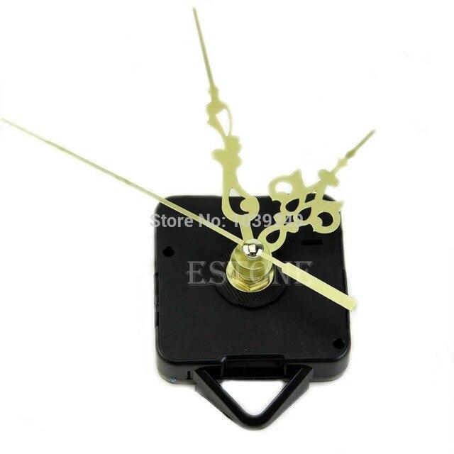 E74 Quartz Clock Movement Mechanism Gold Hands DIY Replace Repair Parts Kit New 03