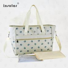 Candy 4 Color Fashion Brand Women's Nappy Bags Paws Printed Mommy Bags New Brand Insular Waterproof Baby Diaper Bags