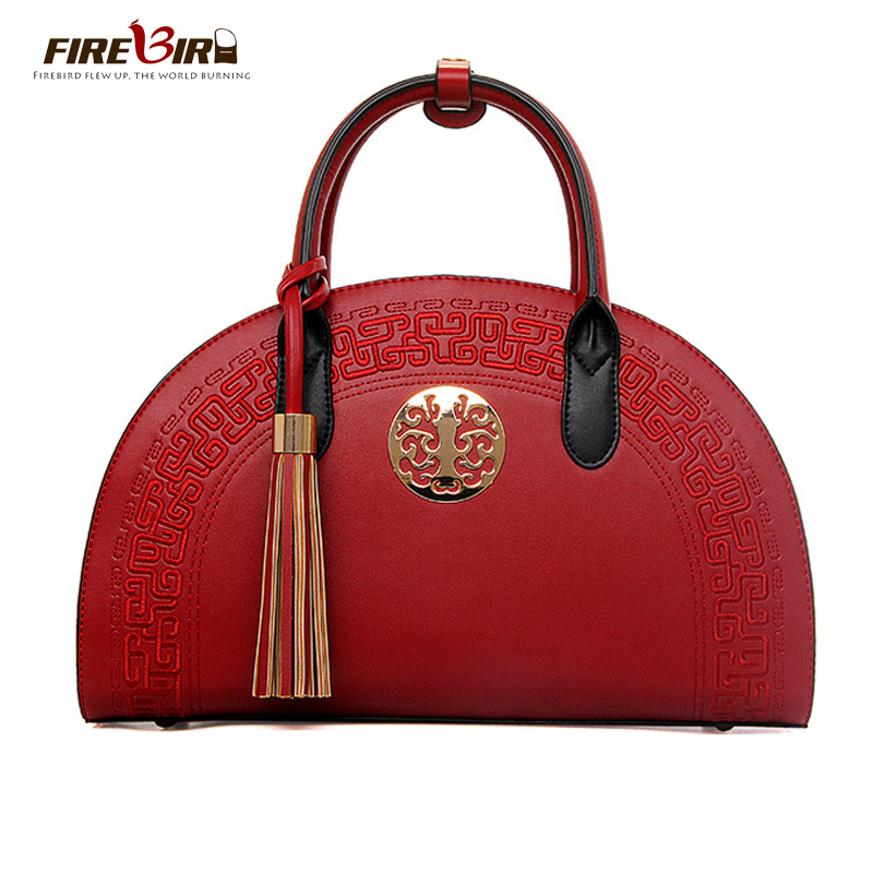 Chinese style vintage women handbag quality PU Ladies handbags Shoulder Messenger Bag Brand designer tassel Crossbody bags L227 feral cat high quality women shoulder bags 2017 vintage pvc designer hobos handbag ladies crossbody bag culth zipper plaid bolso