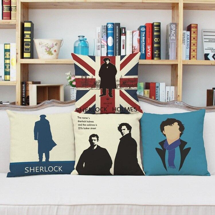 Cushion Fashion Home Decoration Throw Pillows Cars Cushion Pillows scandinavian style cartoon Sherlock Throw Pillow