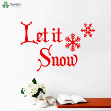YOYOYU Wall Decal Creative Quote Let It Snow Vinyl Sticker Livingroom Decoration  Modern Merry Christmas Art Decor DIYCT613