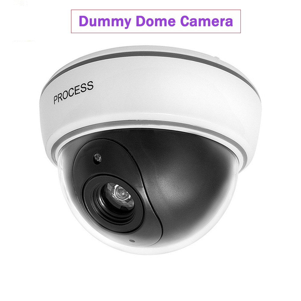 Freeshipping Indoor Dome Fake Camera Security Dummy CCTV Surveillance Camera CAM with a Flashing Blinking Red LED Light outdoor waterproof red led fake dummy ptz speed dome cctv security camera blinking flashing light dummy dome camera