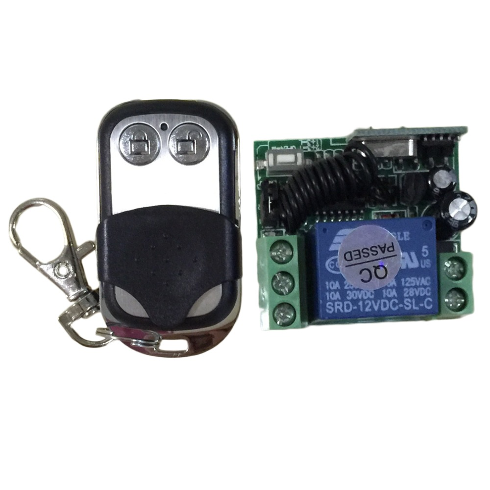 NEW 433Mhz Universal Wireless Remote Control Switch DC12V 10A 1CH relay Receiver Module with RF Remote 433 Mhz Transmitter 433mhz wireless remote control switch dc12v 1ch superheterodyne relay receiver module with rf transmitter 433 mhz remote control