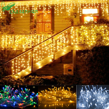 Navidad Noel Christmas Lights Outdoor Decoration Home 10M / 4M Led Curtain String Lights New Year Wedding Party Garland Light,Q