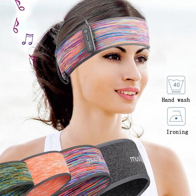 Scarf Headset Wireless Bluetooth Cap Headphone Sleep Headband Hat Soft Unisex Sports Smart Run Earphone Stereo S L Size with Mic