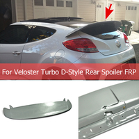 For Hyundai Veloster Turbo D Style FRP Rear Spoiler Fiberglass Trunk Wing Body Kit Roof Wing Car Tuning Part For Veloster