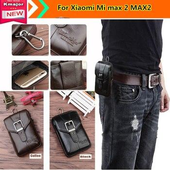 Лидер продаж! Для Сяо mi Xiaomi mi max 2 MAX2 Дело Зажим для ремня чехол из натуральной кожи поясная сумка чехол с креплением для ремня чехол-кобура дл...