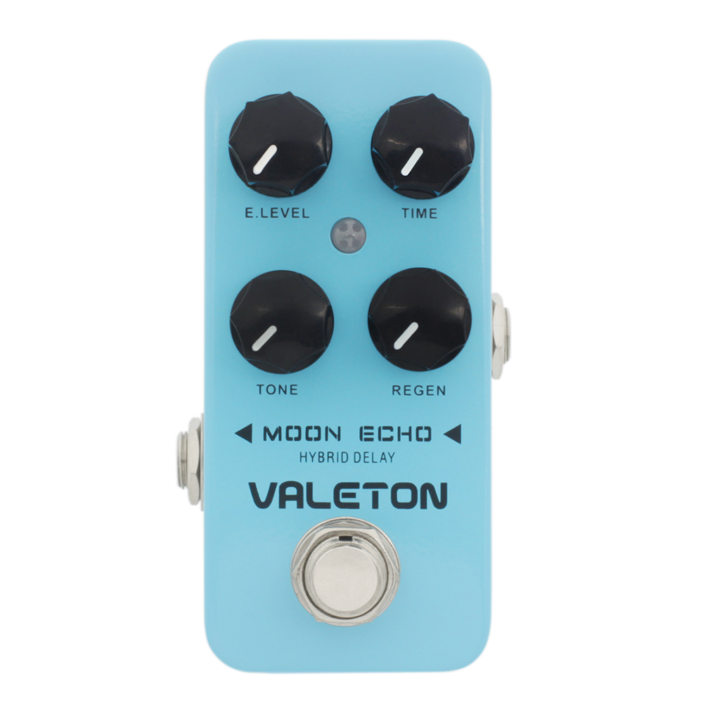 Valeton Moon Echo Guitar Effect Pedal Hybrid Delay Natural Tone True Bypass CDL-1 mooer ensemble queen bass chorus effect pedal mini guitar effects true bypass with free connector and footswitch topper