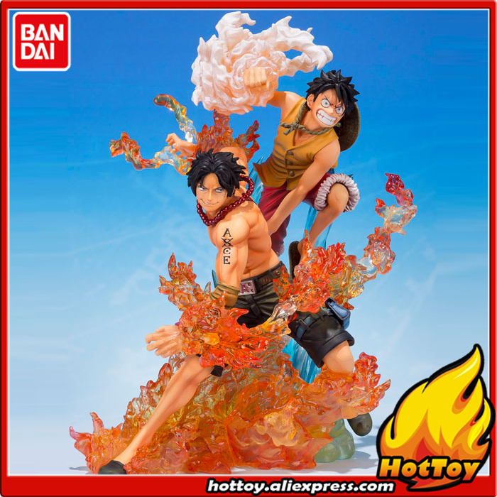 Original BANDAI Tamashii Nations Figuarts ZERO Collection Figure - Monkey D. Luffy & Portgas D. Ace (Brother's Bond) ONE PIECE japanese anime original bandai figuarts zero one piece 5th anniversary edition monkey d luffy