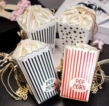 2016 fashion personalized harajuku style women small chain handbags funny creative popcorn bag