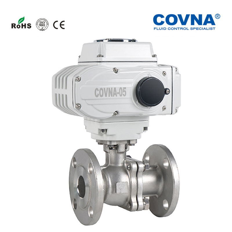 3 inch Electric Flange Ball Valves On Off Type DN80 Stainless Steel Flanged Motorized Ball Valves