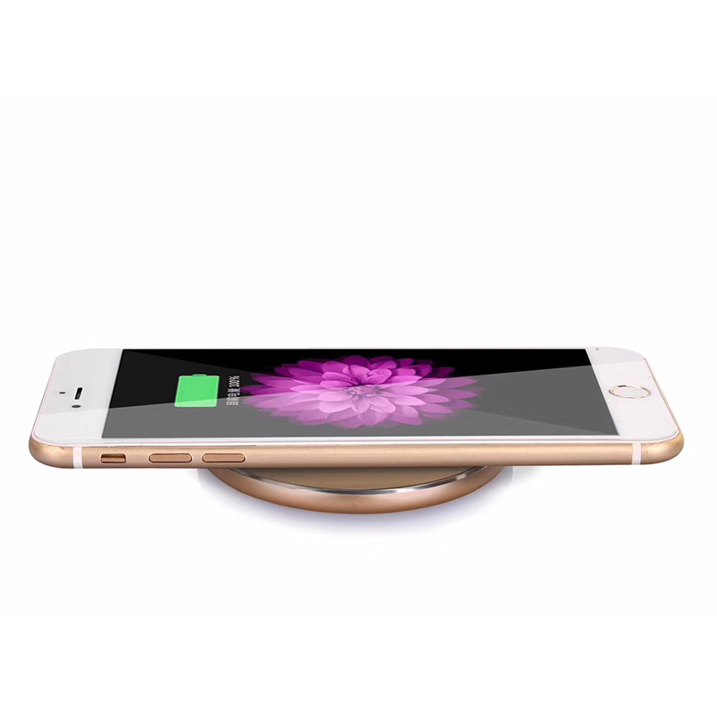 N9 Mobile Phone Wireless Charger Ultra-thin Round Charging Pad Metal Desktop Stand Mobile Phone Charger