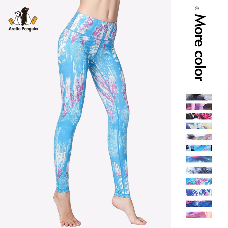 [AP] Women Yoga Pants Printed Quick Dry Sporting Leggings Women Compression Dance Pants High Waist 3D Printing Leggings