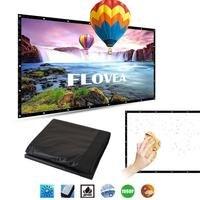 Amzdeal Przenośne 16: 9 Wyświetlacz Kurtyny Lekki Projektor 100 Inchs Ekran Projekcyjny Holach Biuro Biznes PCV HD Domu