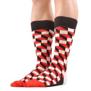 Image 5 - SANZETTI 12 paren/partij mannen Casual Grappige Kleurrijke Gekamd Katoenen Sokken Rode Argyle Dozijn Pack Gelukkig Sokken Neiging Jurk Bruiloft sokken