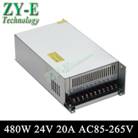 24V 20A 480w Switching led DC Power Supply non waterproof led driver for LED display screen block power Free shipping