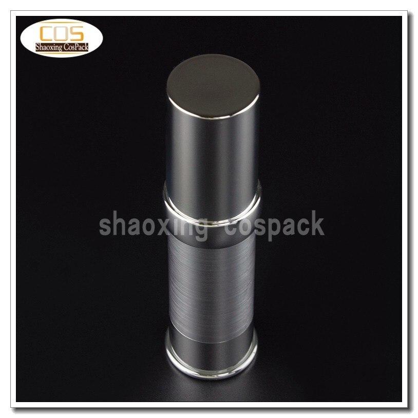 50 pcs za218 15ml prata garrafa bomba airless para creme vazio plastico garrafa airless 15 ml