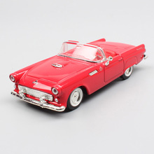 Childrens 1:43 Scale small classic 1955 Ford Thunderbird roadster diecast vehicles models auto Cars toys thumbnails collectors