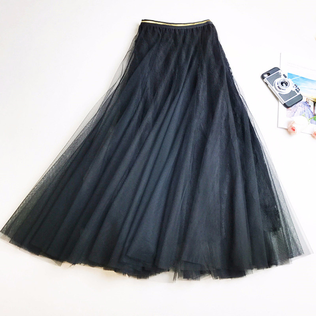 2019 Summer trend beach Mid skirt Breathable cute girlish style Embroidered skirt Harajuku fashion New Arrivals ZYFPGS Brand