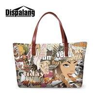 Dispalang Poster Printing Handbags for Women Bag Designer Bolsa Feminina Sac a Main Bolsos Tote Ladies Graffiti Shoulder Bag