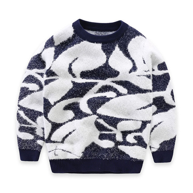 New Arrival Children Clothing Big Boy Girls Knitted Sweater Pullover Soft Mohair Sweater High Quality Cotton Knitwear for Boy