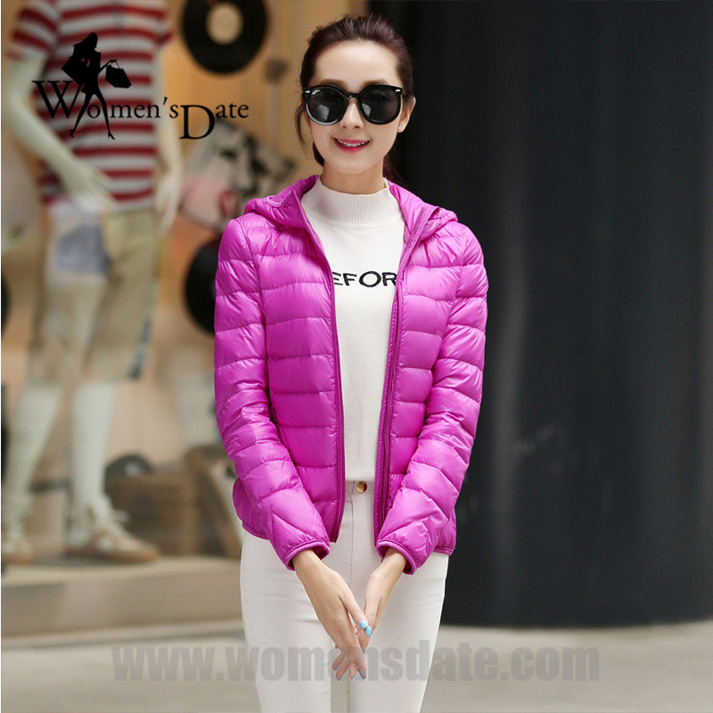 WomensDate 90% White Duck Down Jackets 2017 Autumn Winter Women Ultra Light Women's Hooded Slim Down Parkas XXXL Pink womensdate 2017 new arrival winter women 90% white duck down jacket slim short coat plus size duck down purple jackets parka