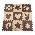 9 pcs EVA Foam Enigma do Jogo do bebê Mat/Encravamento Telhas do Tapete para o Miúdo, Cada 30 cm X 30 cm, 10 mmThick coelho flor